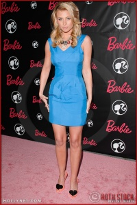 Alyson Michalka attends Barbie's 50th Birthday Party at her Real-Life Malibu Dream House