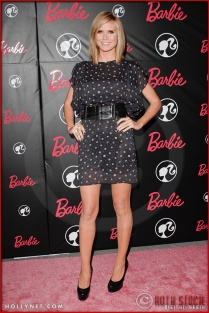 Heidi Klum attends Barbie's 50th Birthday Party at her Real-Life Malibu Dream House