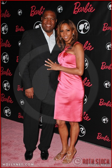 Holly Robinson Peete and Rodney Peete attend Barbie's 50th Birthday Party at her Real-Life Malibu Dream House