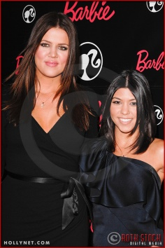 Khloe Kardashian and Kourtney Kardashian attend Barbie's 50th Birthday Party at her Real-Life Malibu Dream House