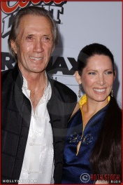 "David Carradine and Annie Bierman attend the Los Angeles Premiere Screening of ""Kill Bill Vol. 1"""
