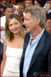 "Calista Flockhart and Harrison Ford attend the World Premiere of ""K-19: The Widowmaker"""