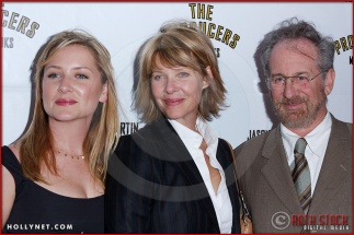 Jessica Capshaw, Kate Capshaw and Steven Spielberg attend opening night of The Producers