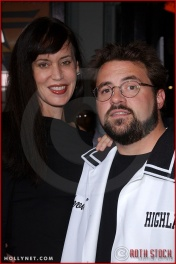 "Jennifer Smith and Kevin Smith attend the Los Angeles Premiere Screening of ""Kill Bill Vol. 1"""