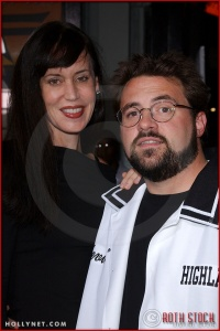 """Jennifer Smith and Kevin Smith attend the Los Angeles Premiere Screening of """"Kill Bill Vol. 1"""""""