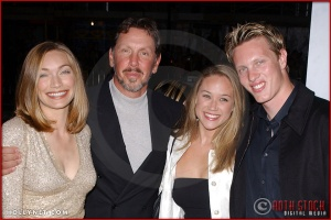 "Melanie Craft, Larry Ellison, Larkin Clark and David Ellison attend the Los Angeles Premiere Screening of ""Kill Bill Vol. 1"""