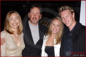 "Melanie Craft, Larry Ellison, Larkin Clark and David Ellison attend the Los Angeles Premiere Screening of ""Kill Bill Vol. 1"""