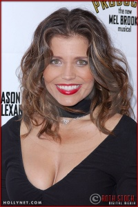 Mindy Burbano attends opening night of The Producers