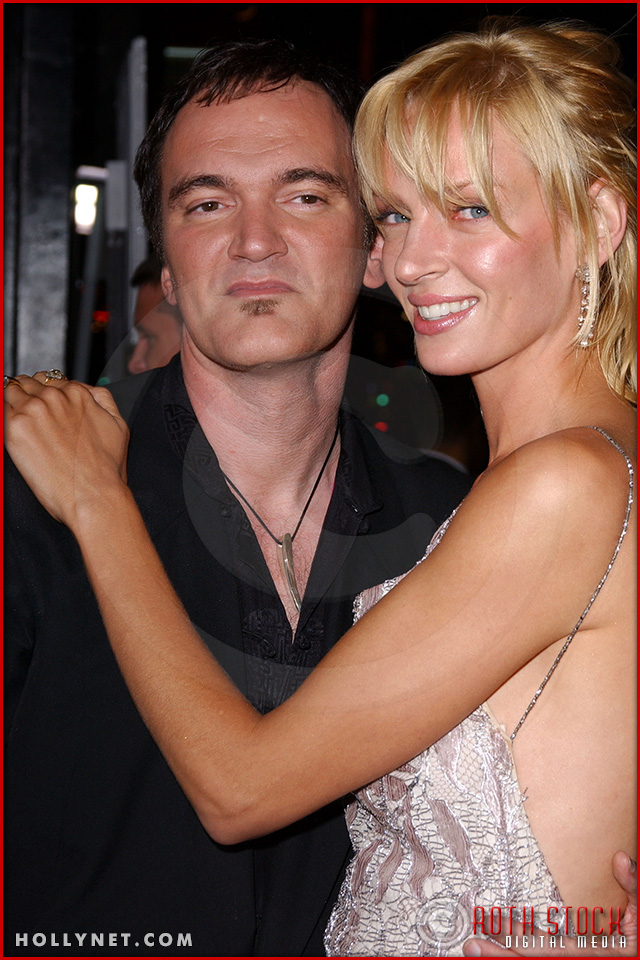 "Quentin Tarantino and Uma Thurman attend the Los Angeles Premiere Screening of ""Kill Bill Vol. 1"""
