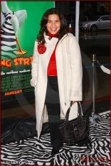 "America Ferrera attends the World Premiere of ""Racing Stripes"""