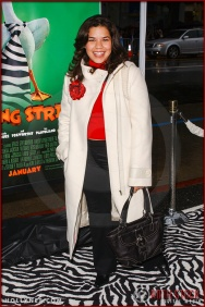 "America Ferrera attends the World Premiere of ""Racing Stripes"""