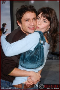 """Chris Kattan and guest Meg Guillentine attend the World Premiere of """"Lemony Snicket's A Series of Unfortunate Events"""""""