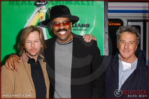 "David Spade, Steve Harvey and Dustin Hoffman attend the World Premiere of ""Racing Stripes"""