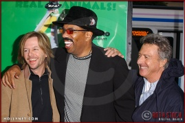 """David Spade, Steve Harvey and Dustin Hoffman attend the World Premiere of """"Racing Stripes"""""""