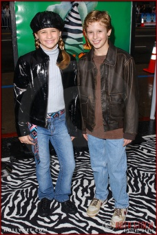 "Jenna Boyd and Cayden Boyd attend the World Premiere of ""Racing Stripes"""