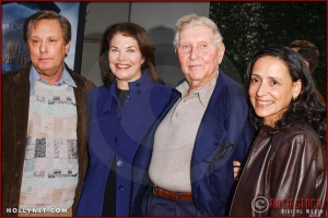 "(L-R) Wiliam Friedkin, Sherry Lansing, Sumner Redstone and Paula Fortunato attend the World Premiere of ""Lemony Snicket's A Series of Unfortunate Events"""