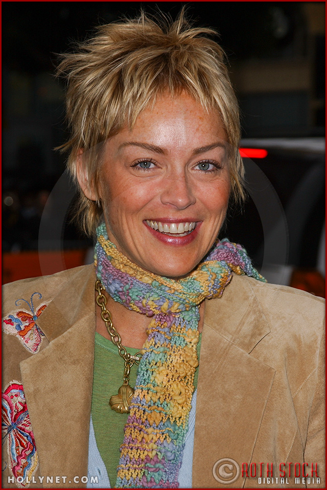 "Sharon Stone attends the World Premiere of ""Racing Stripes"""