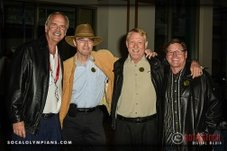 (L-R) Olympians John Naber, Andrew Strenk, Jim Wooley and Brian Godell