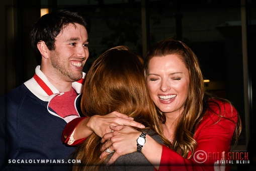 Olympian Michael Blatchford (L) with his wife Cristin Blatchford (C) and Olympian Tamara Christopherson (R)