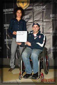 Olympic Hopeful Nissy Cobb (L) and ParaPanAmerican Swimmer Nate Higgins