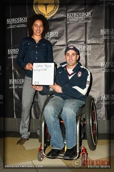 Olympic Hopeful Nissy Cobb (L) and ParaPanAmerican Swimmer Nate Higgins