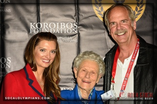 (L-R) Olympians Tamara Christopherson, Iris Cummings Critchell and John Naber