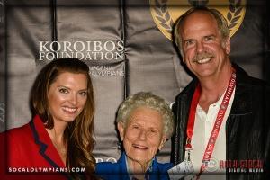 (L-R) Olympians Tamara Christopherson, Iris Cummings Critchell and John Naber