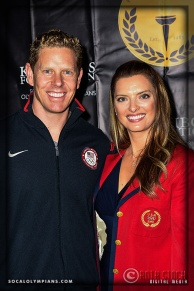 Olympians Sky Christopherson (L) and Tamara Christopherson