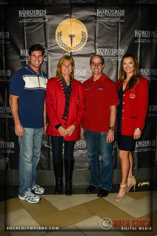 (L-R) Olympians Cliff Meidl, DeAnn Hemmens, Curt Bader and Tamara Christopherson