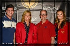 (L-R) Olympians Cliff Meidl, DeAnn Hemmens, Curt Bader and Tamara Christopherson