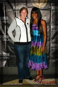 Olympians Katherine Starr (L) and Tasha Danvers