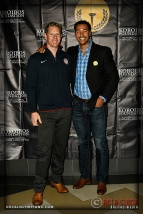 Olympians Sky Christopherson (L) and Giddeon Massie
