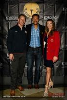 (L-R) Olympians Sky Christopherson, Giddeon Massie and Tamara Christopherson