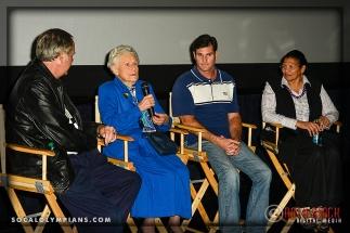 (L-R) Olympians John Naber, Iris Cummings Critchell, Cliff Meidl, and Anita DeFrantz