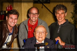 (L-R) Olympians Cliff Meidl, Curt Bader, Sammy Lee (front) and Philippe Boccara