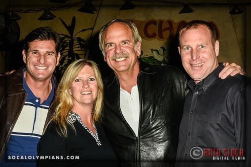 (L-R) Olympian Cliff Meidl, with Karen Meidl, Olympian John Naberand Norman Meidl