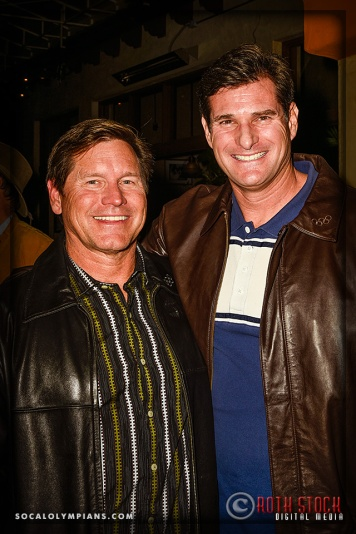 (L-R) Olympians Brian Godell and Cliff Meidl