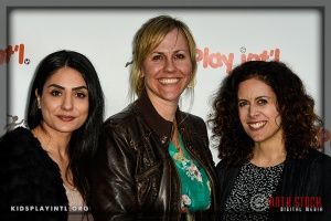 (L-R) Publicists Elpin Keshishzadeh, Katrina Younce and Melinda Travis of PRO Sports Communications