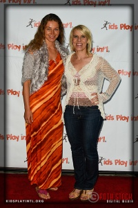 (L-R) Actress Marina Kazankova and KPI founder Tracy Evans-Land attend the 6th Annual Cocktails to Benefit Kids Play International
