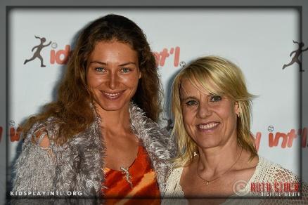 (L-R) Actress Marina Kazankova and KPI founder Tracy Evans-Land