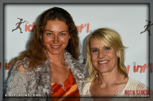 (L-R) Actress Marina Kazankova and KPI founder Tracy Evans-Land