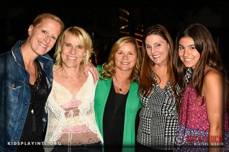 Olympian Tracy Evans-Land (2nd from L) and Kathy Knoll (2nd from R) and Guests