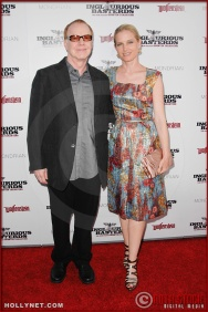 Danny Elfman and Bridget Fonda attend the Los Angeles Premiere of Inglourious Basterds
