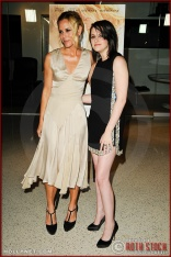 "Maria Bello and Kristen Stewart attend the premiere of ""The Yellow Handkerchief"""