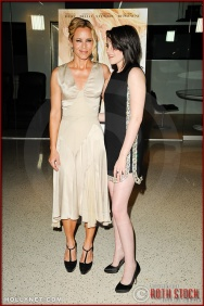 "Maria Bello and Kristen Stewart attend the premiere of ""The Yellow Handkerchief"""