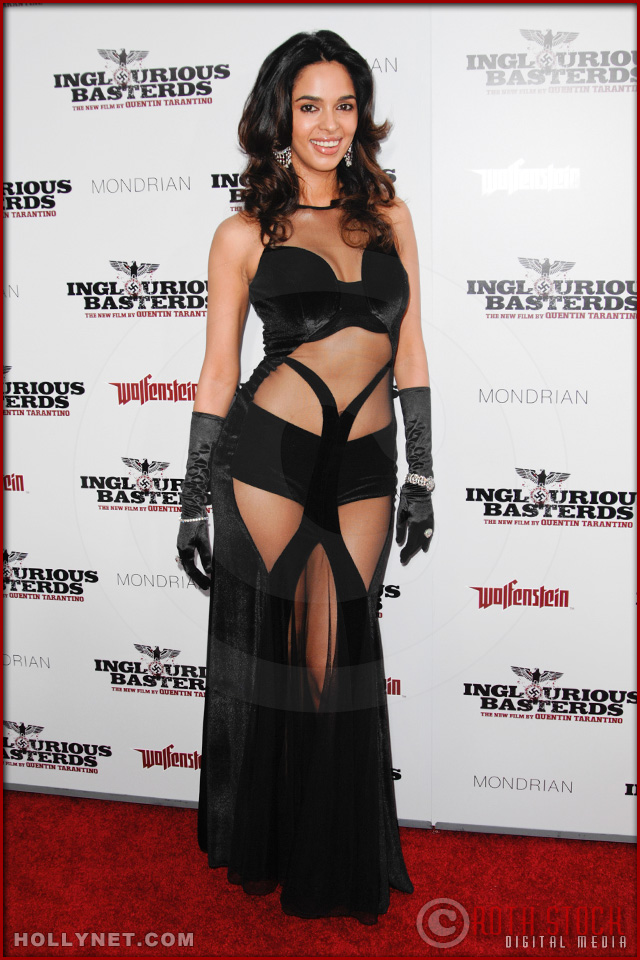 Mallika Sherawat attends the Los Angeles Premiere of Inglourious Basterds
