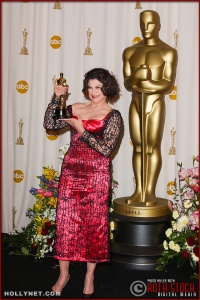Colleen Atwood in the Press Rom at the 75th Annual Academy Awards®