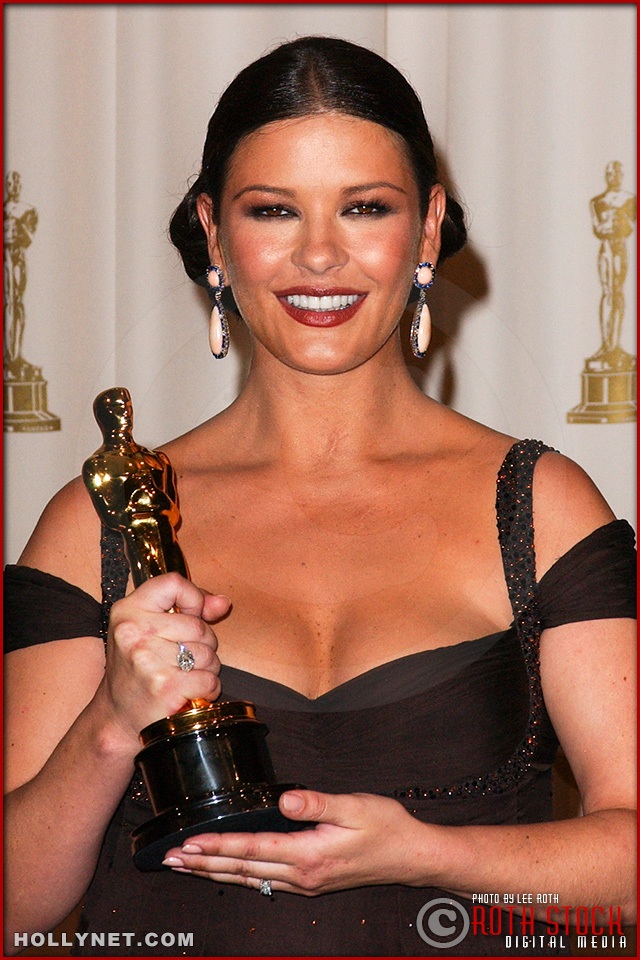 Actress Catherine Zeta-Jones in the Press Room at the 75th Annual Academy Awards®