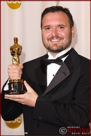 Eric Armstrong in the Press Room at the 75th Annual Academy Awards®