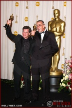 Ethan Van der Ryn and Michael Hopkins in the Press Room at the 75th Annual Academy Awards®